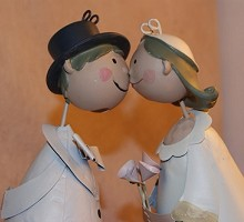 Presents Weddings&Anniversaries Couple newlyweds retrò  Blumen